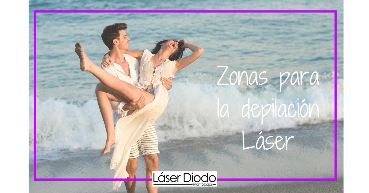 Zonas para la depilación láser
